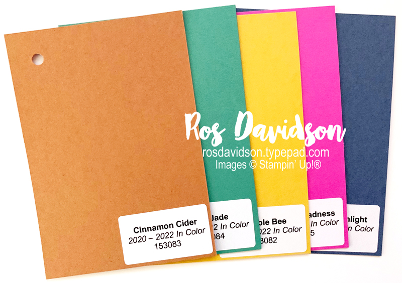 cardstock swatch, in colors, stampin up, in colors 2020 - 2022