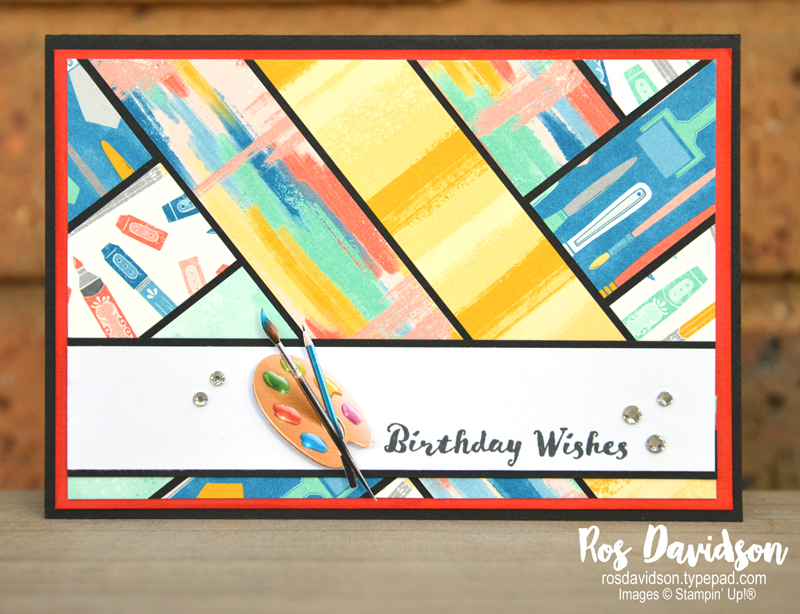 Stampin' Up! stamping challenge, keep stamping, stamping challenge 7, follow your art designer series paper, itty bitty birthdays, scrappy strip card