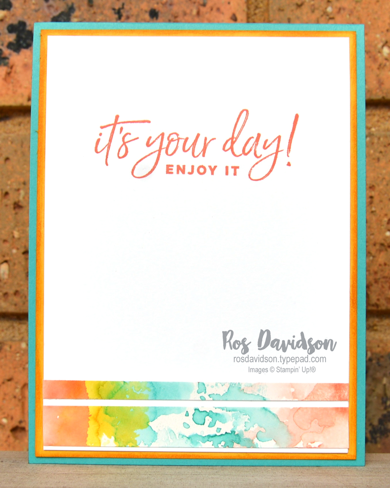 Stampin' Up, Colour Creations, Color Creations, Blog Hop, calypso coral, well said, well written dies, stitched rectangles dies, shaker card, birthday card, masking technique, happiest of birthdays