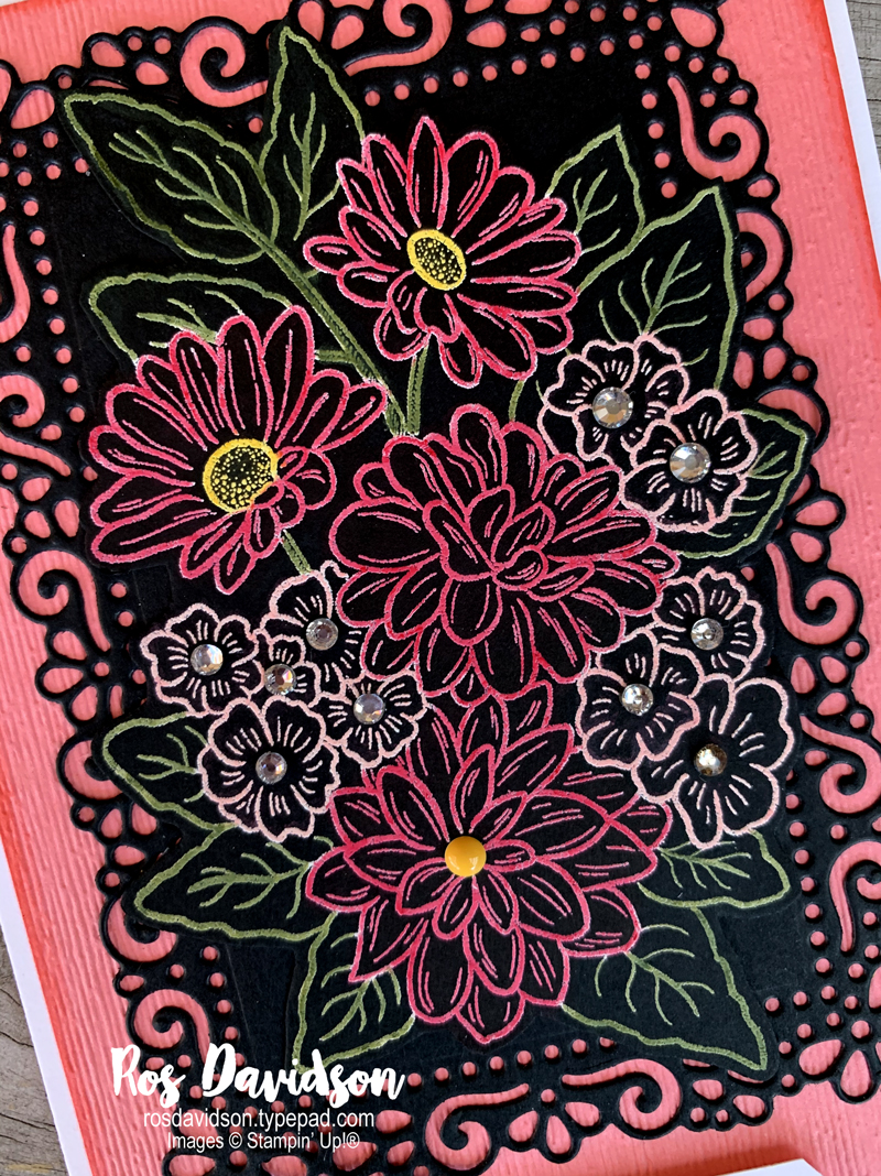 Stampin' Up, Colour Creations, Color Creations, Blog Hop, cherry cobbler, heat embossing, stampin blends, fussy cutting, well said, ornate style,