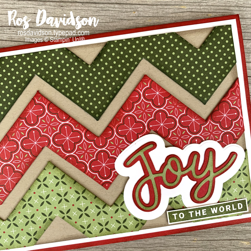 Stampin' Up!, chevron fold, designer series paper, heartwarming hugs, peace and joy bundle, peace and joy stamp set, peaceful boughs stamp set, stampin' cut and emboss