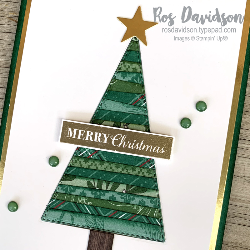Stampin' Up!, Christmas gleaming, tis the season DSP, in good taste dsp, christmas card, stitched triangle dies, stitched star dies, making merry monday