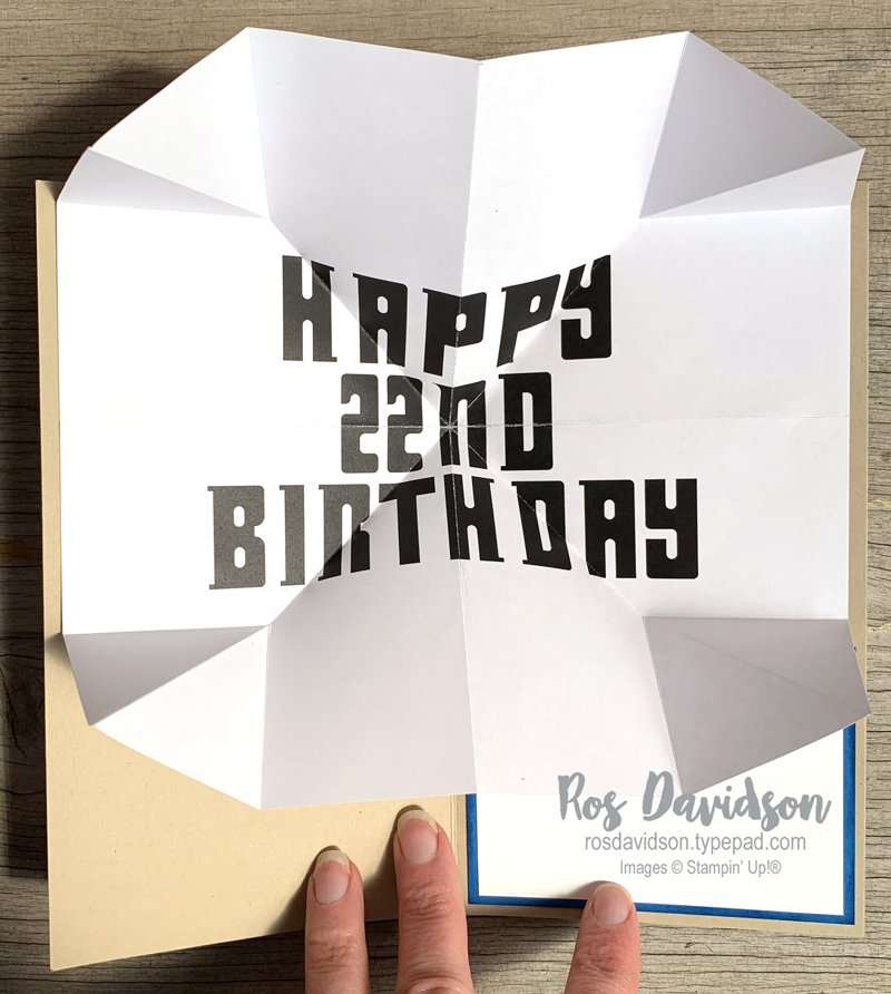 Stampin' Up!, doctor who, birthday card, doctor who font, printable, exploding card, tardis