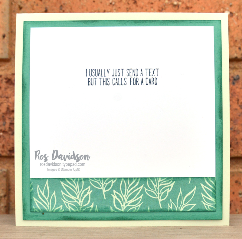 Corner bouquet thank you card Stampin Up
