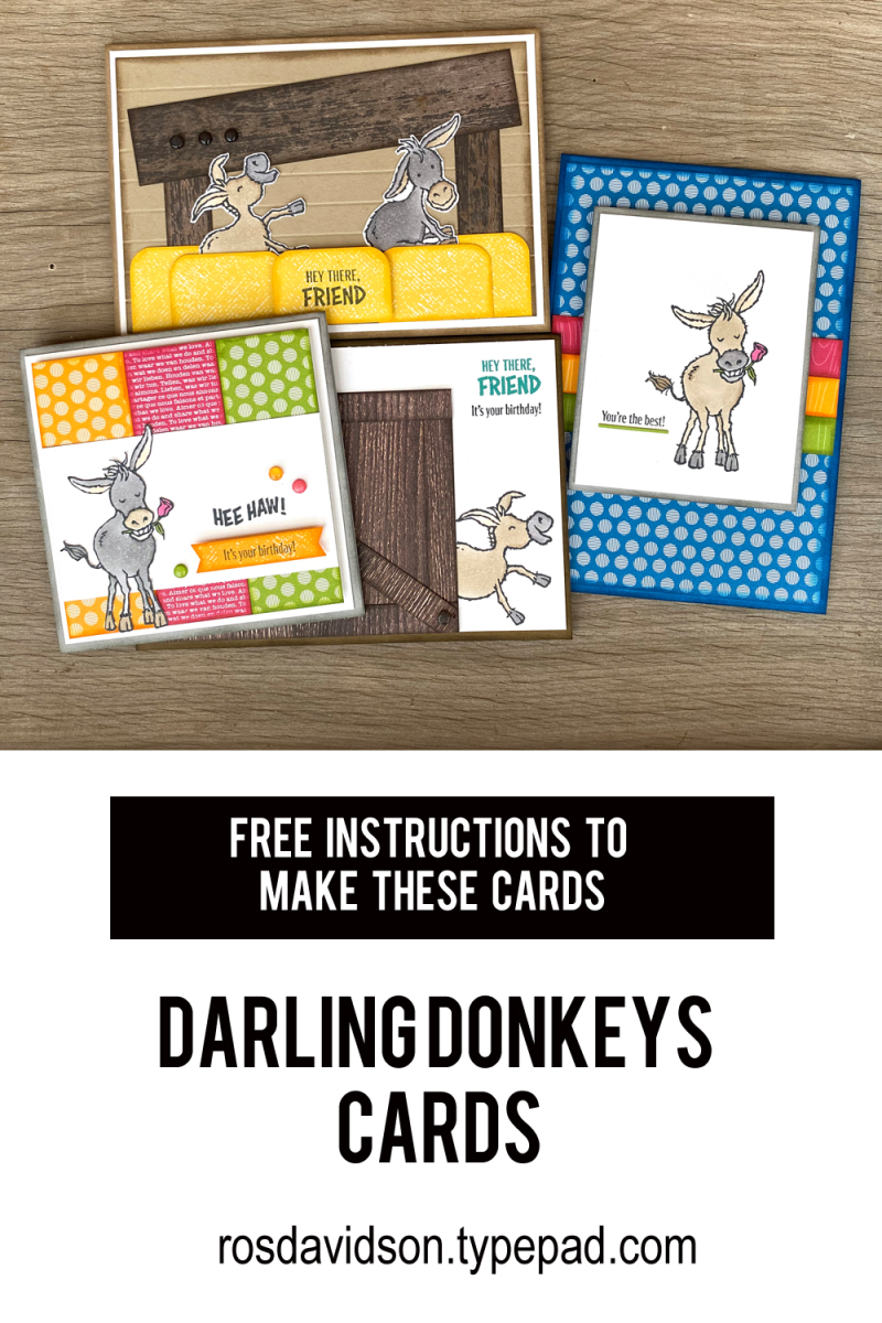 Darling Donkeys Stampin Up saleabration