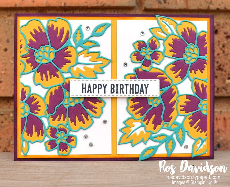 Many layered blossoms Stampin Up