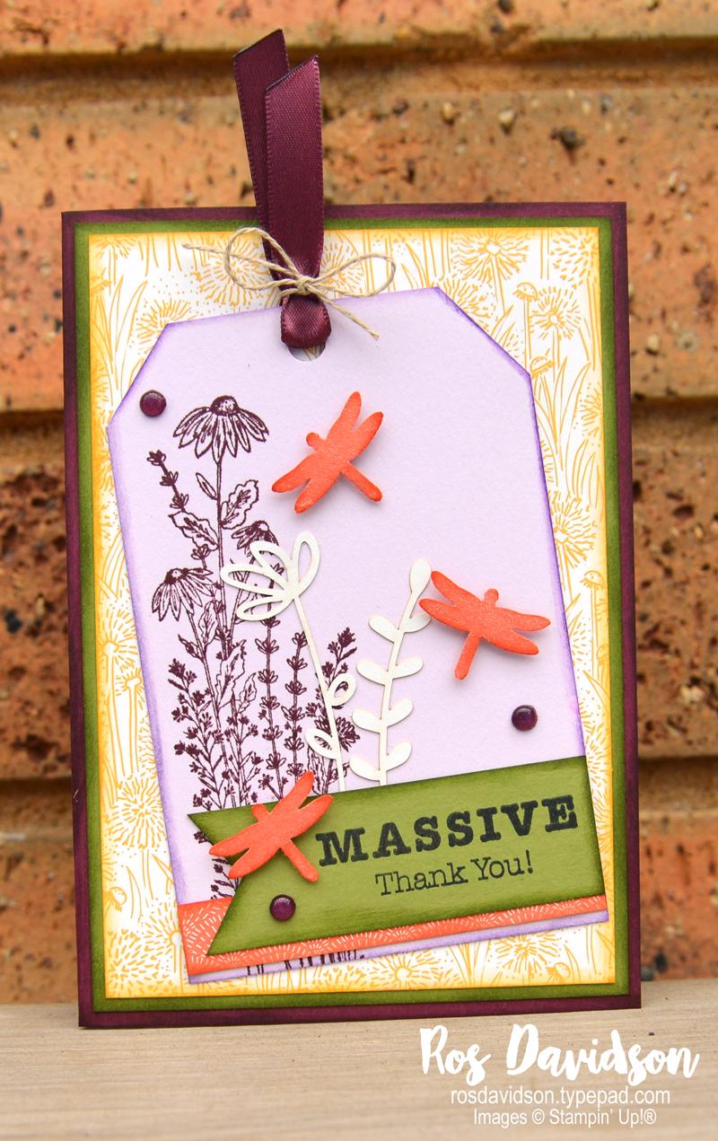 Dandy garden suite card Stampin Up