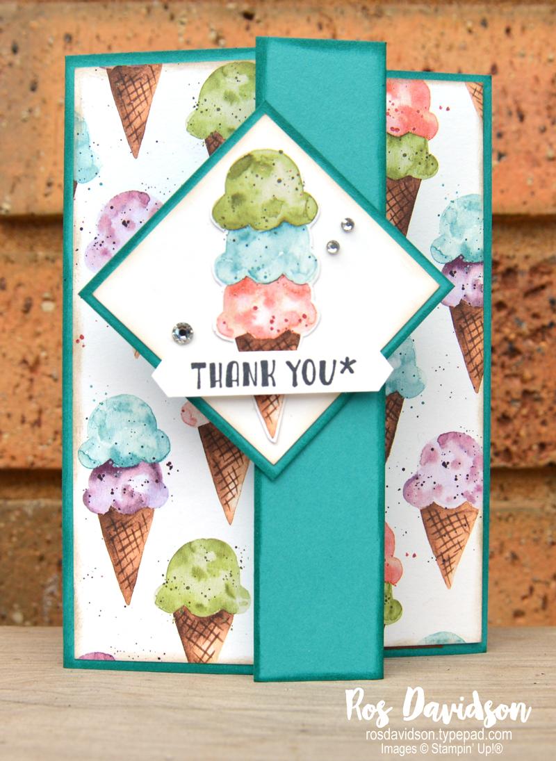 Ice Cream Corner DSP Stampin UP