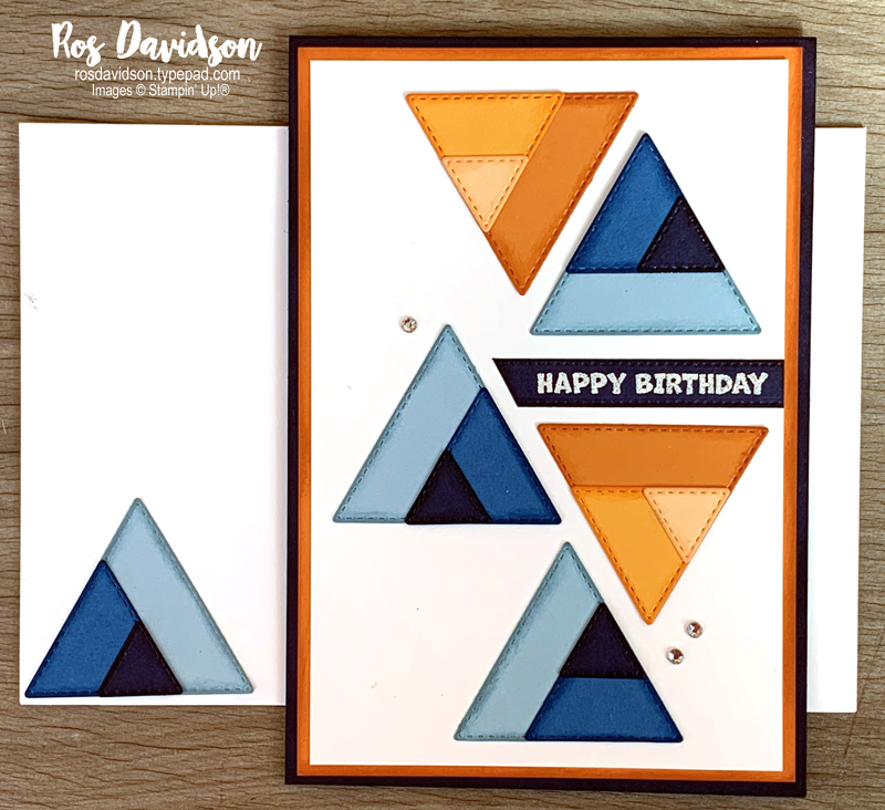 Stitched triangles dies Stampin' Up!