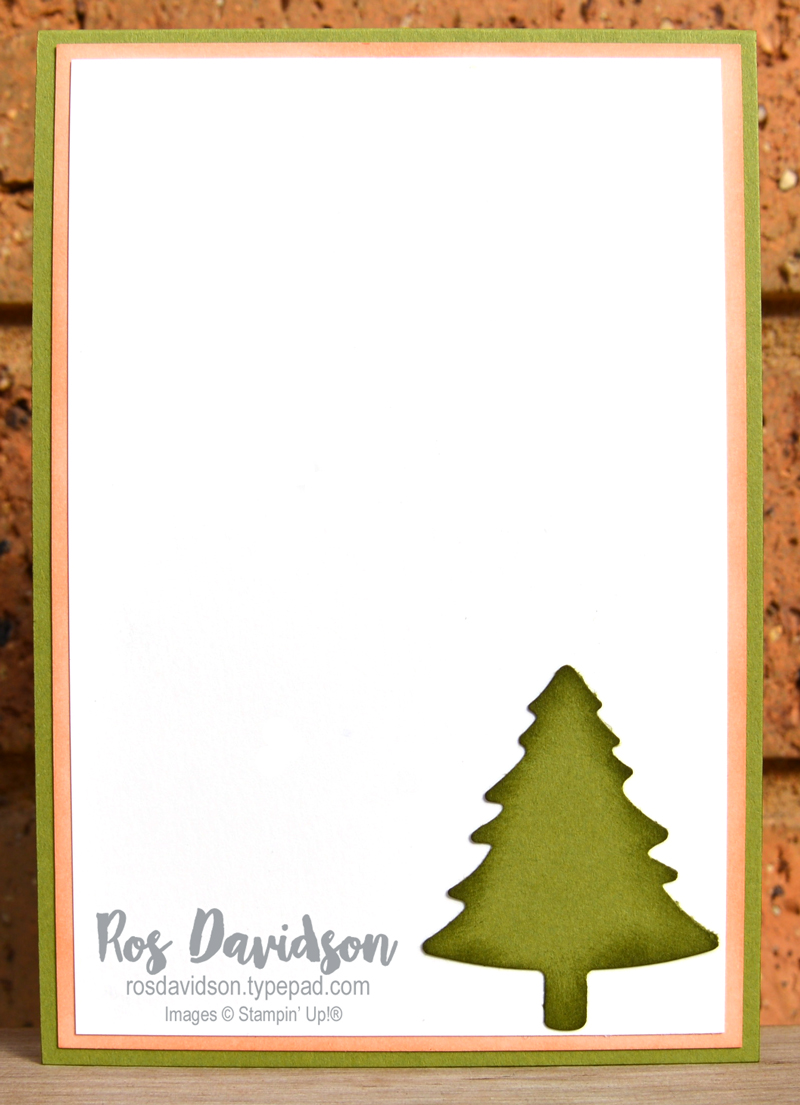 Festive foliage clear envelope shaker card Stampin Up