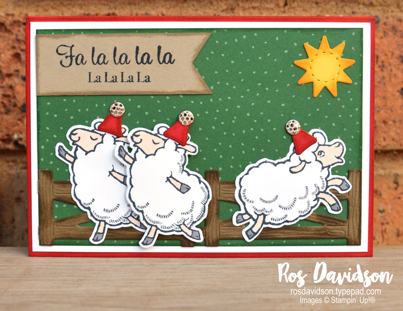 Stampin' Up! | Counting Sheep Christmas Card | Sale-a-bration 2021 | card by Ros Davidson, Stampin' Up! demonstrator Melbourne Australia