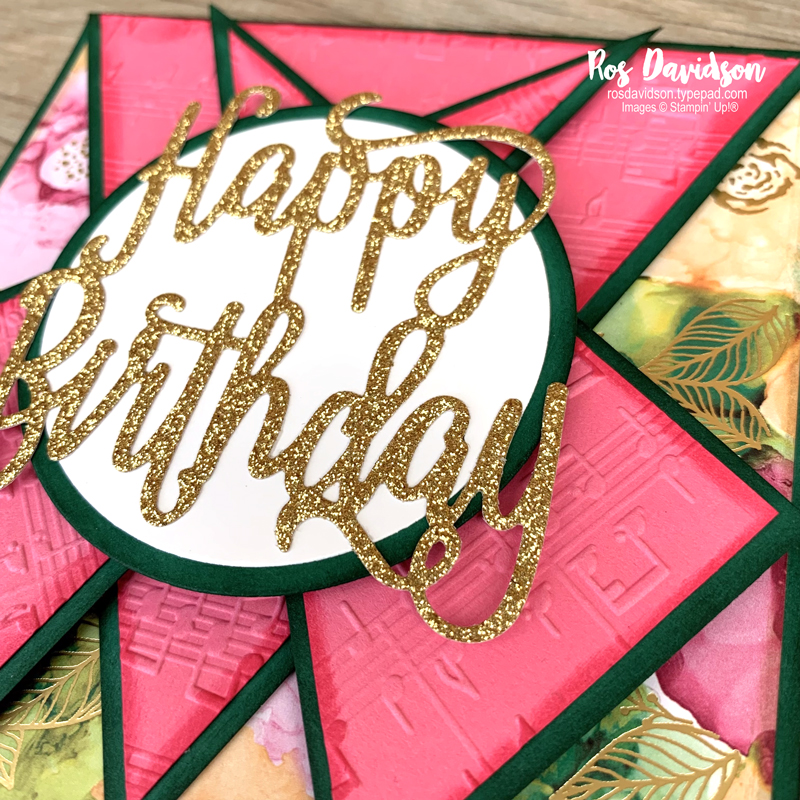 Stampin' Up! | Triple Point Card | Expressions In Ink DSP | Birthday card | card by Ros Davidson, Stampin' Up! demonstrator Melbourne Australia