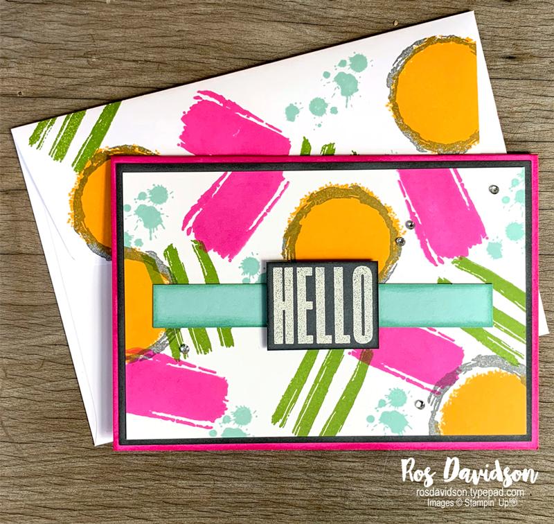 Stampin' Up! | Hello card | Textures & frames stamp set | Sale-a-bration 2021 | card by Ros Davidson, Stampin' Up! demonstrator Melbourne Australia