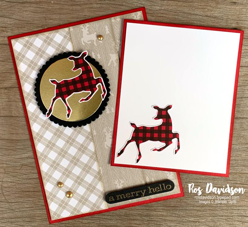 Stampin' Up! | Pocket card | Peaceful prints DSP | Sale-a-bration 2021  | Christmas card | card by Ros Davidson, Stampin' Up! demonstrator Melbourne Australia