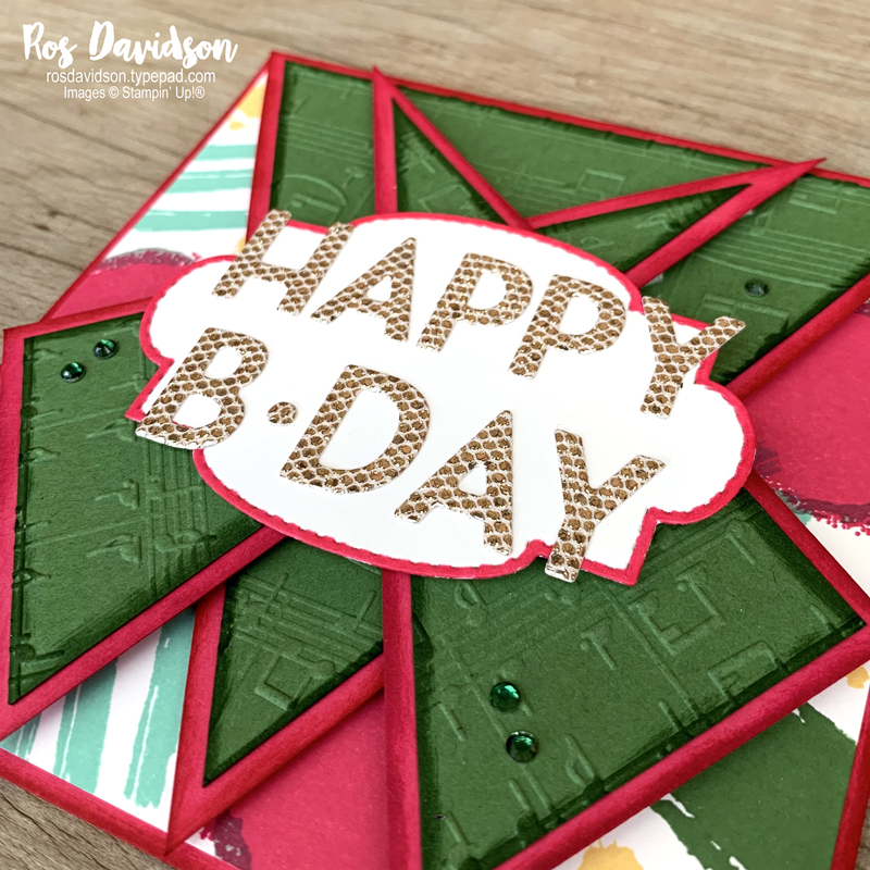 Stampin' Up! | Triple Point Card | Expressions In Ink DSP | Birthday card | sale-a-bration 2021 | card by Ros Davidson, Stampin' Up! demonstrator Melbourne Australia