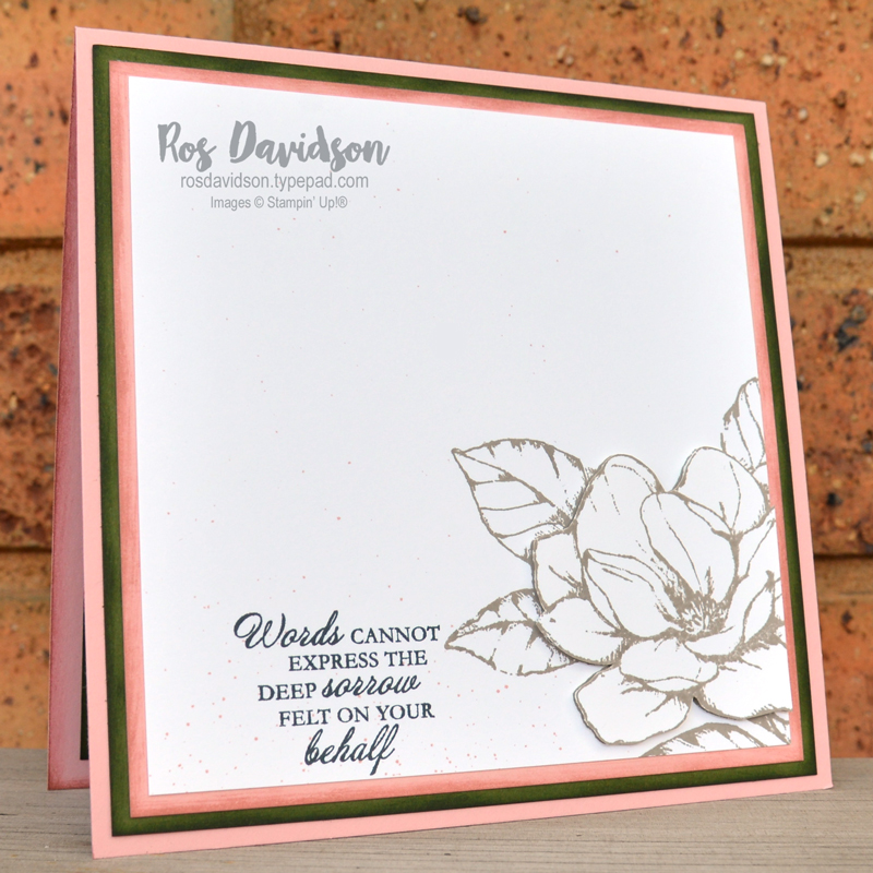 Stampin' Up, Colour Creations, Color Creations, Blog Hop, card, gray granite, sympathy card, good morning magnolia stamp set, here's a card stamp set, well said stamp set, well written dies, faux resin dots, paper toile, fussy cut, stamparatus