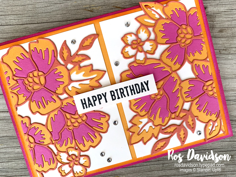 Stampin' Up, Colour Creations, Color Creations, Blog Hop, card, magenta madness, itty bitty birthdays, happiest of birthdays, many layered blossoms, stampin' cut and emboss