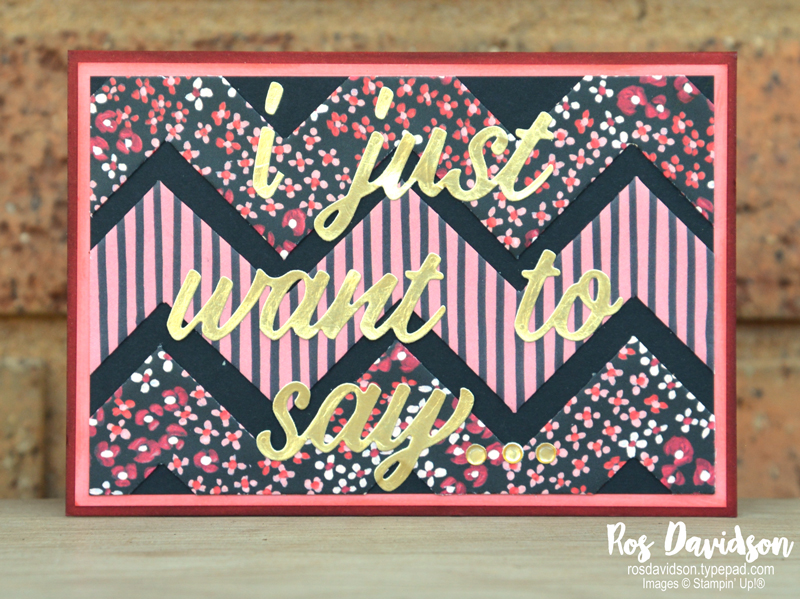 Chevron fold with Flower and Fold DSP Stampin Up