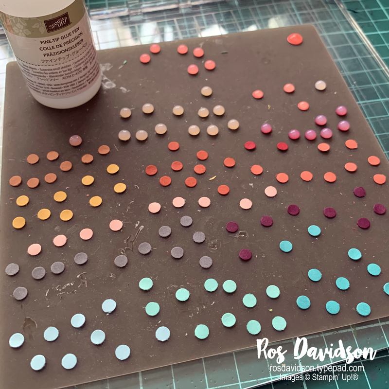 Making faux resin dots Stampin Up
