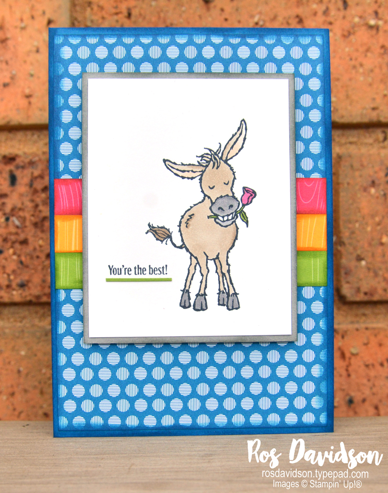 Darling donkey Stampin Up saleabration