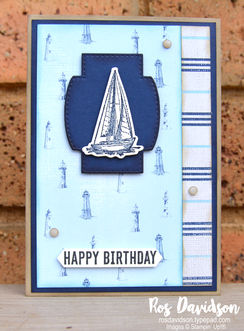 Sailing home Stampin Up