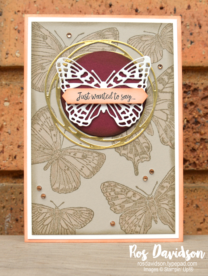 Butterfly brillance Stampin Up