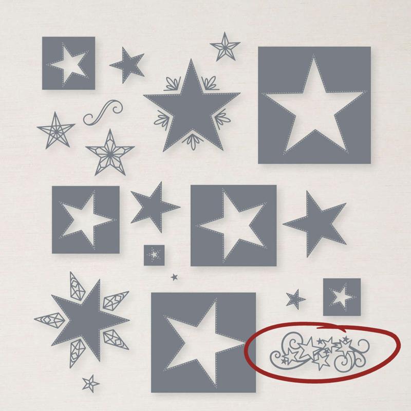 Stitched stars dies Stampin' Up!