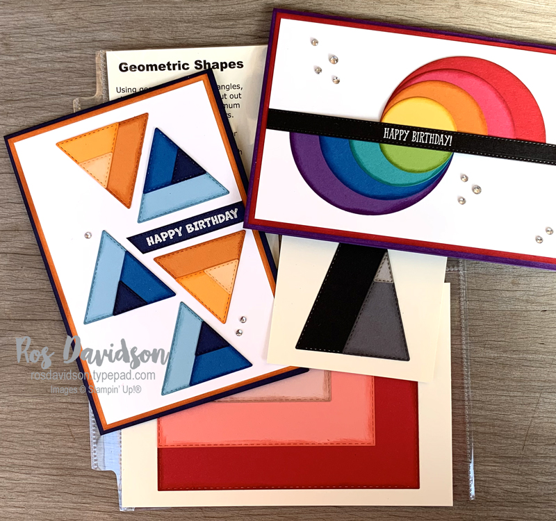 Geometric shapes cards Stampin' Up!