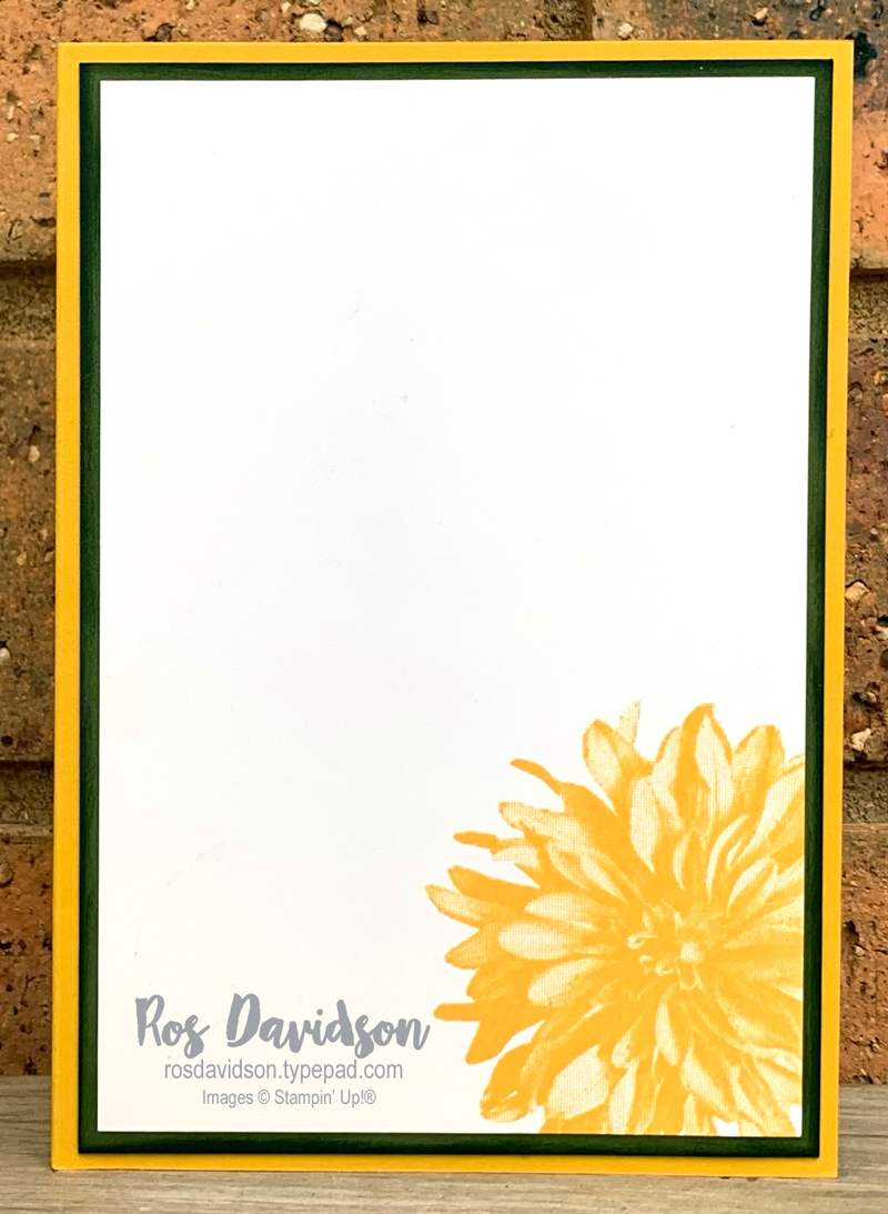 Stampin' Up! | Delicate dahlias card | Sale-a-bration 2021 | card by Ros Davidson, Stampin' Up! demonstrator Melbourne Australia