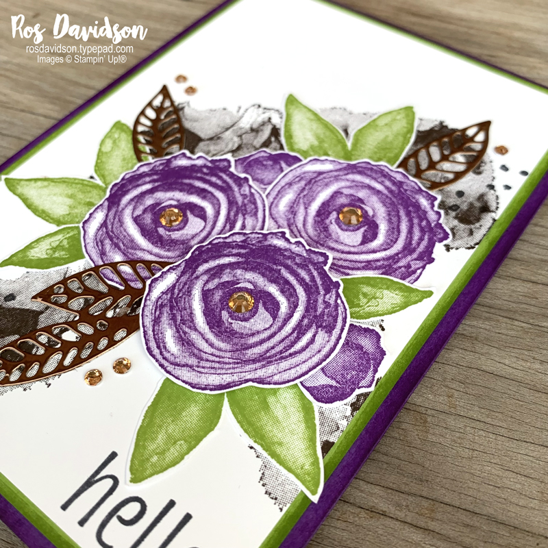 Stampin' Up! | Hello card | Artistically inked | card by Ros Davidson, Stampin' Up! demonstrator Melbourne Australia