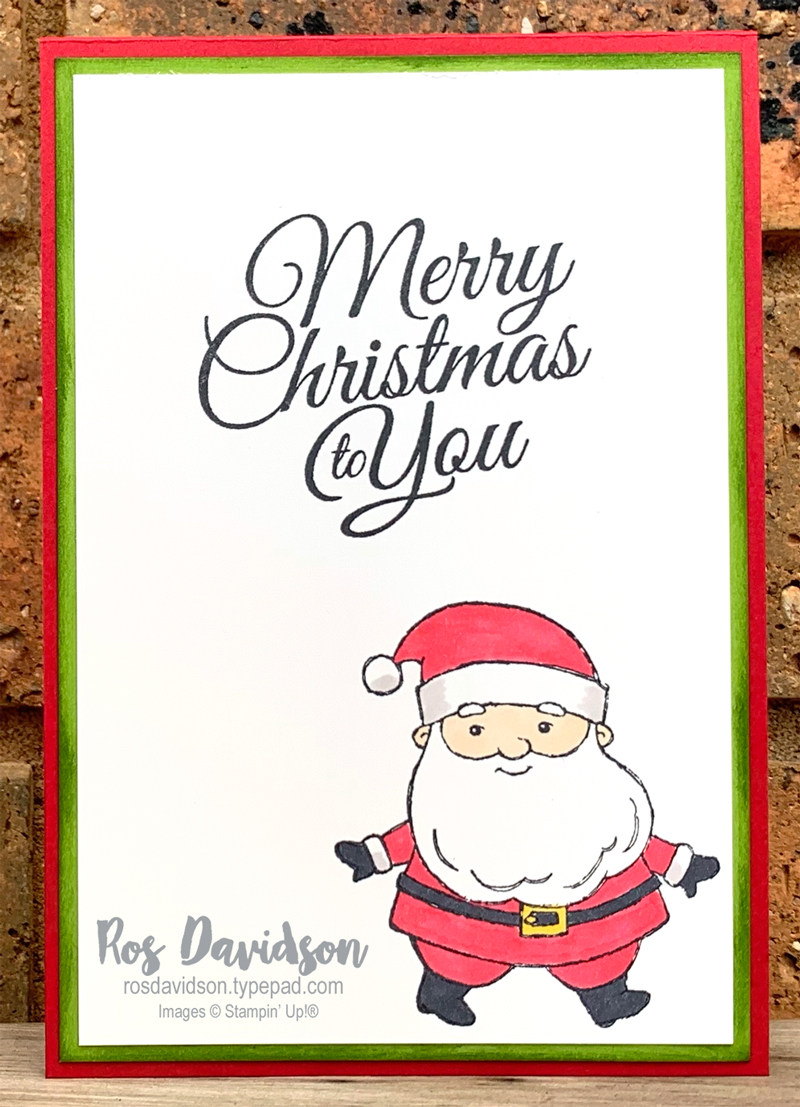 Stampin' Up! | Be Jolly | Heartwarming Hugs DSP | Christmas card | card by Ros Davidson, Stampin' Up! demonstrator Melbourne Australia
