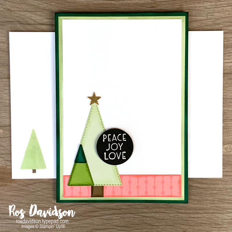 Inspired thoughts Christmas card Stampin' Up!