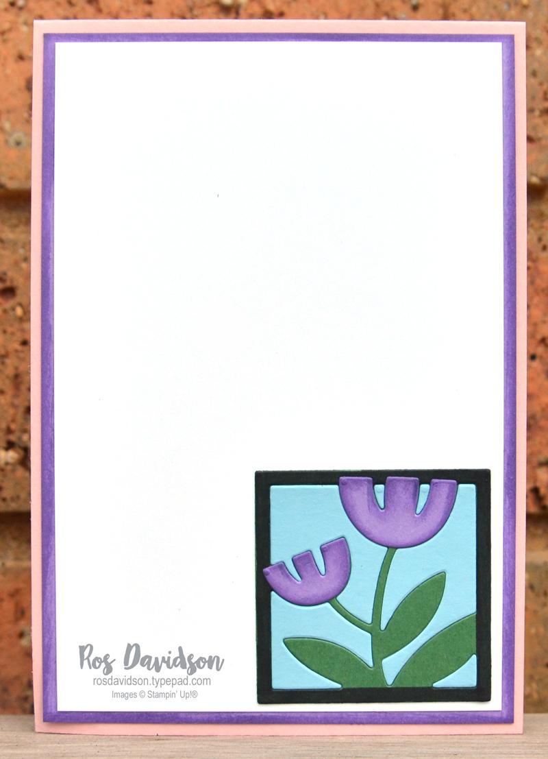 Stampin Up Floral Square Dies