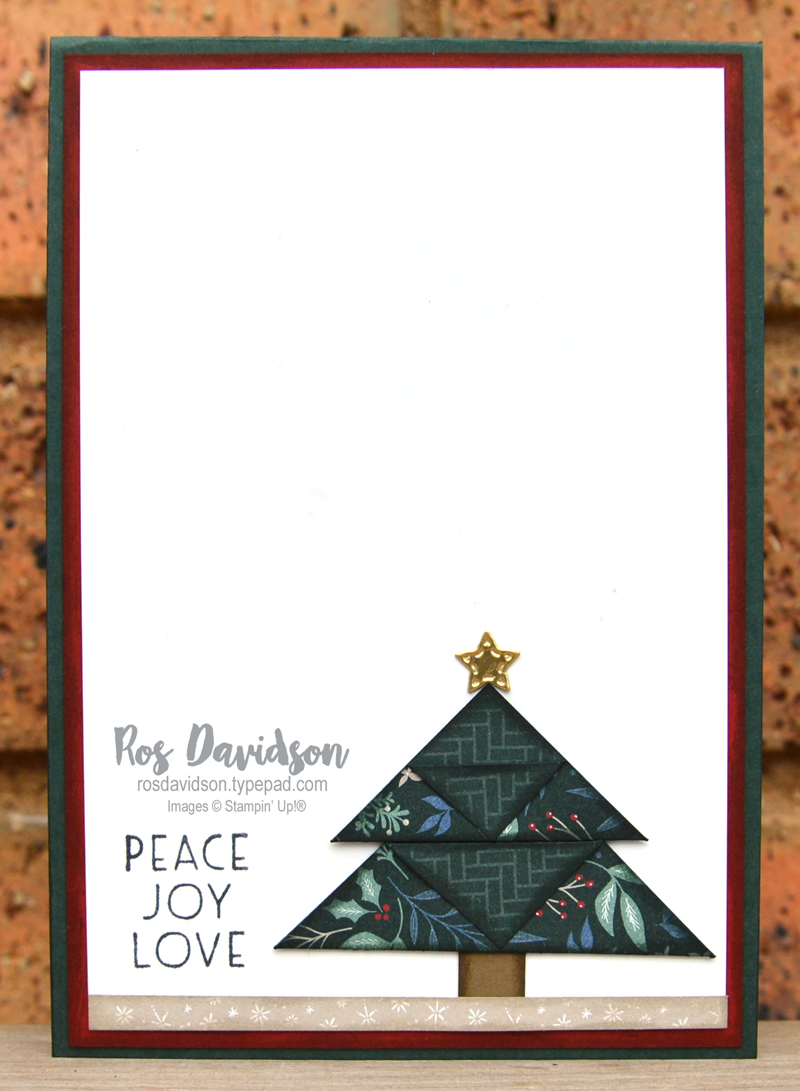 Origami Trees with Tidings of Christmas DSP Stampin Up