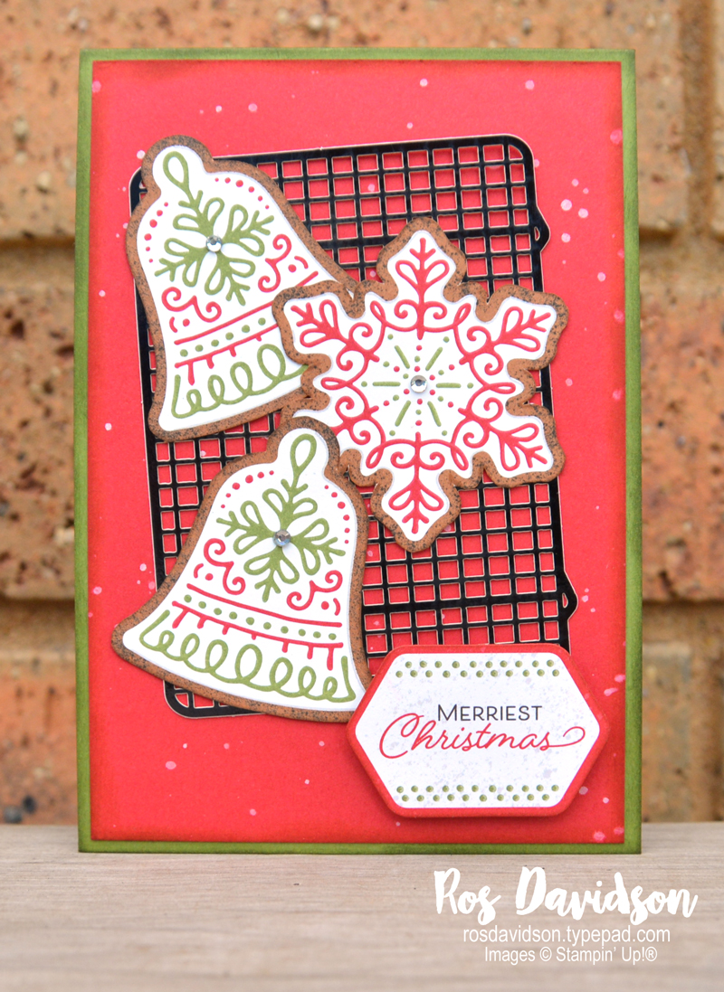 Stampin' Up! | Gingerbread & Peppermint DSP | Gingerbread & Peppermint Memories & More Card Pack | Christmas card | card by Ros Davidson, Stampin' Up! demonstrator Melbourne Australia
