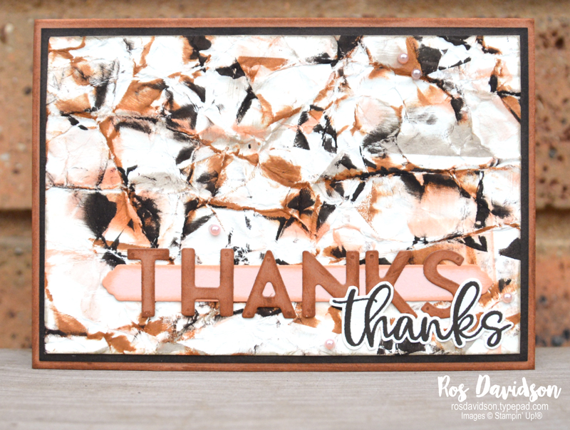 Stampin' Up! | Biggest wish stamp set | Thank you card | Camouflage background technique | card by Ros Davidson, Stampin' Up! demonstrator Melbourne Australia