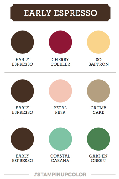 Stampin Up early espresso color coach card swatch