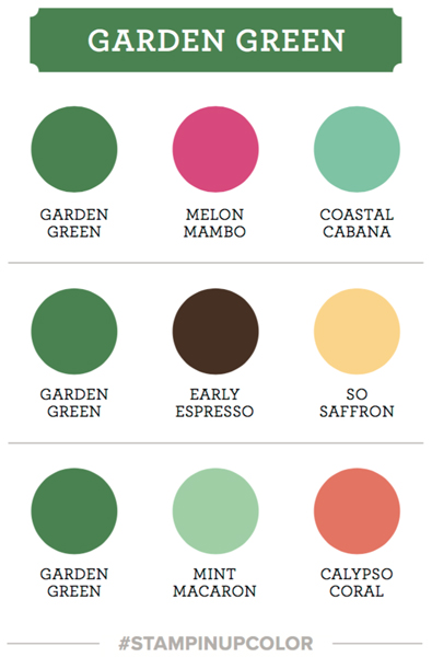 Stampin Up garden green color coach card swatch