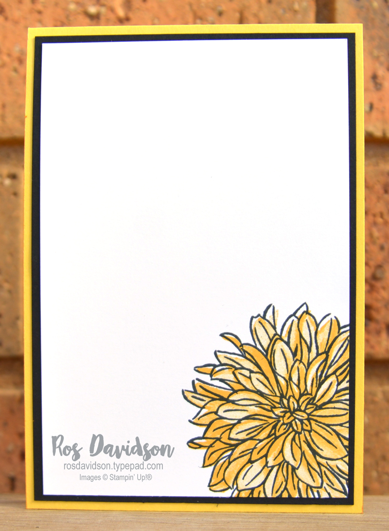 Stampin' Up! | Thanks card | Delicate dahlias | Sale-a-bration 2021 | card by Ros Davidson, Stampin' Up! demonstrator Melbourne Australia