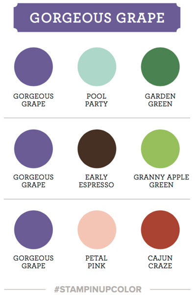 Gorgeous grape Stampin Up color coach swatch